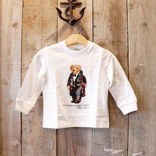 【ベビー】Polo Ralph Lauren(ポロラルフローレン):ポロベアー長袖Tシャツ