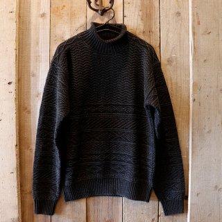 RRL(ダブルアールエルラルフローレン):ブラックインディゴ ロールネックセーター