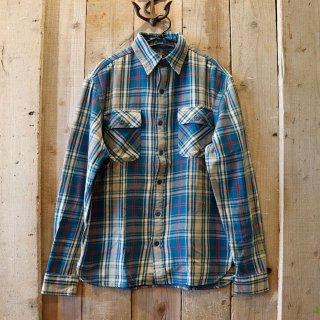 RRL(ダブルアールエルラルフローレン):インディゴチェックワークシャツ