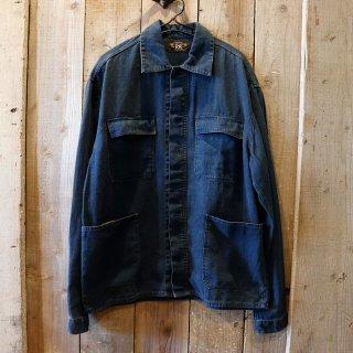 RRL(ダブルアールエルラルフローレン):インディゴヘリンボーン シャツジャケット