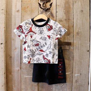 【ボーイズ】Nike Jordan Brand(ナイキ ジョーダンブランド):セットアップ(Tシャツ+ショーツ)