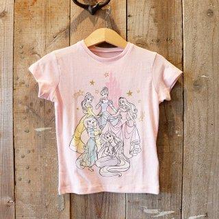 【ガールズ】Disney(ディズニー):プリンセス プリントTシャツ