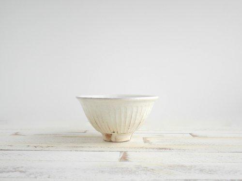 鉄散 線彫めし碗大 古谷製陶所