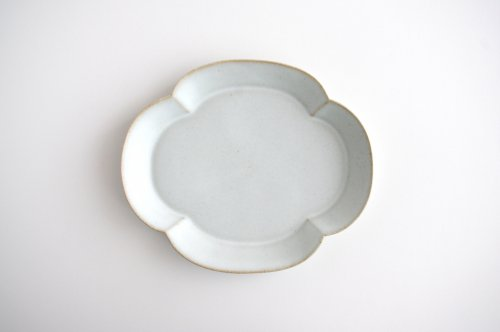 中林範夫 白7寸木瓜形皿