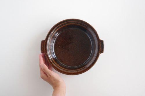 アメ釉 耐熱グラタン皿 21cm 古谷製陶所