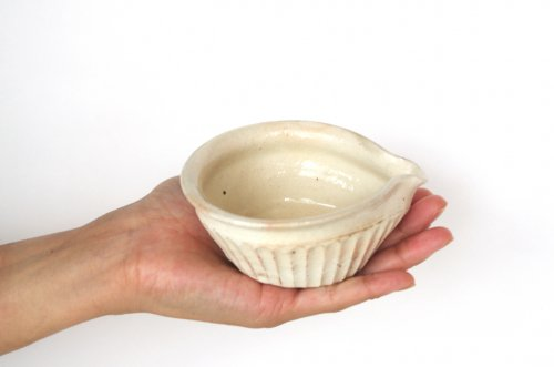 鉄散 しのぎ片口豆鉢 古谷製陶所