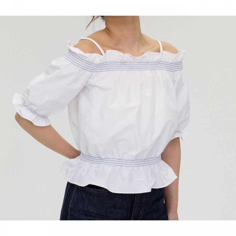 Off-Shoulder Blouse(White)