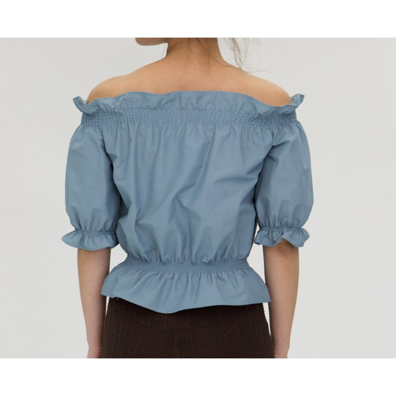 Off-Shoulder Blouse(Sax)