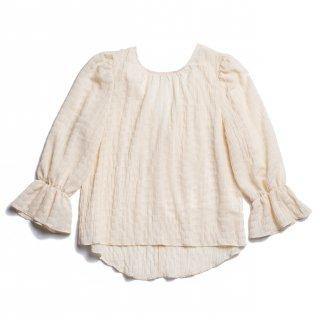 AMYER - Shirring Puff Sleeve Blouse(Ivory)