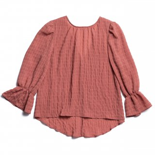 AMYER - Shirring Puff Sleeve Blouse(Pink)
