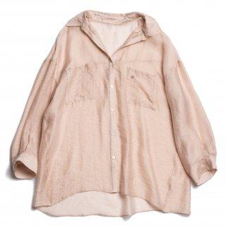 AMYER - Big Sheer Shirt(Pink Beige)