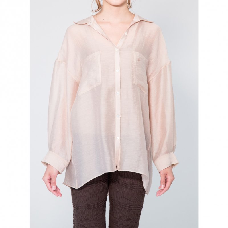 Big Sheer Shirt(Ivory×Beige)