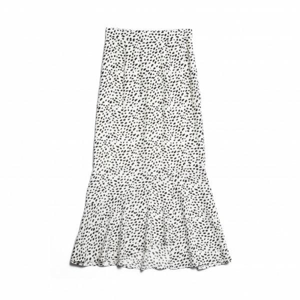 AMYER - Mermaid Skirt(Ivory×Black)