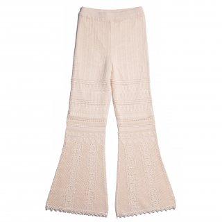 AMYER - Crochet Knit Pants(Ivory)