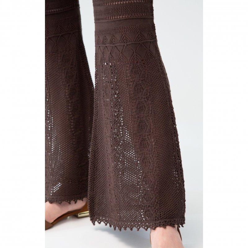 Crochet Knit Pants(Black)