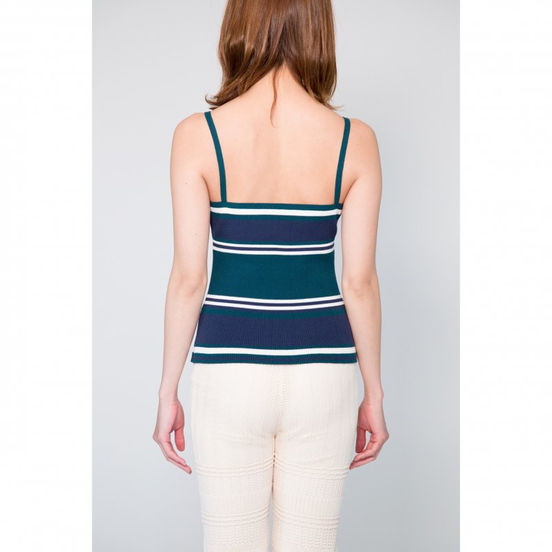 Rib Knit Camisole(Beige × Black)<img class='new_mark_img2' src='https://img.shop-pro.jp/img/new/icons20.gif' style='border:none;display:inline;margin:0px;padding:0px;width:auto;' />