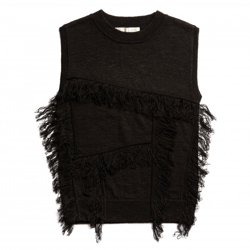 Fringe Knit Pullover(Black)<img class='new_mark_img2' src='https://img.shop-pro.jp/img/new/icons20.gif' style='border:none;display:inline;margin:0px;padding:0px;width:auto;' />