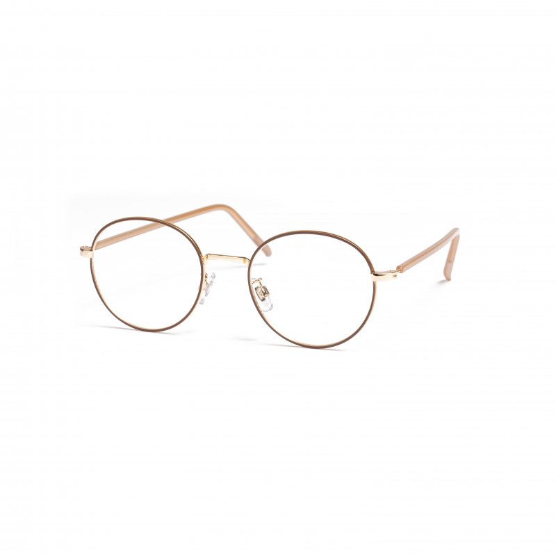 Gold Frame Clear Sunglasses