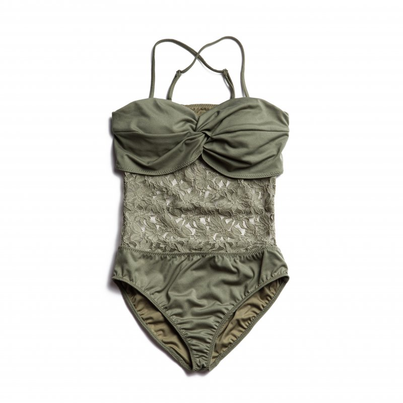 Lace Docking Swimwear(Khaki)