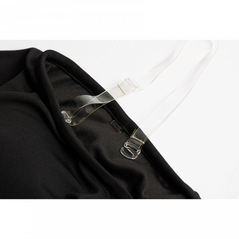 Frill High-waist Bikini(Black)