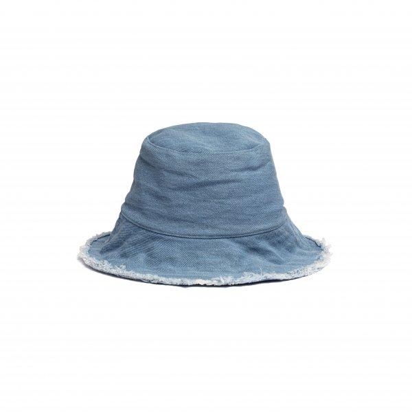 AMYER - Fringe Denim Bucket Hat