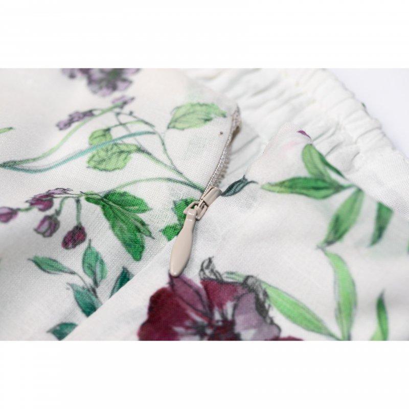 Flower Maxi Cami Dress(White)