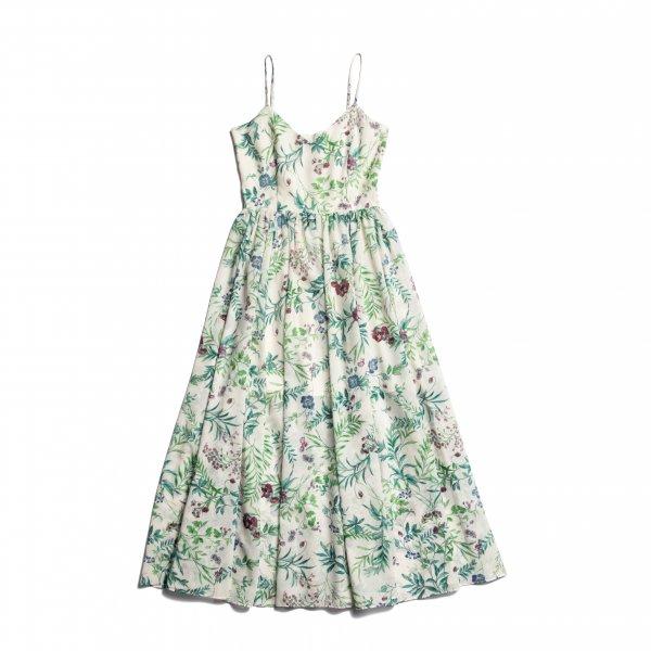 AMYER - Flower Maxi Cami Dress(White)