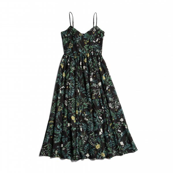 AMYER - Flower Maxi Cami Dress(Black)