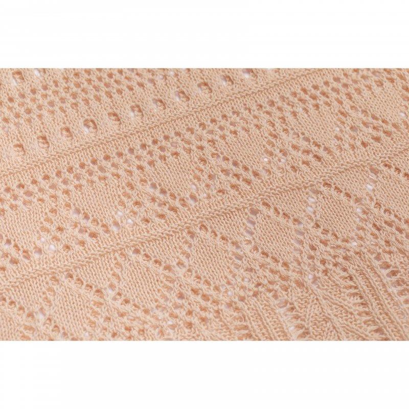 Crochet Knit Set Up(Pink Beige)