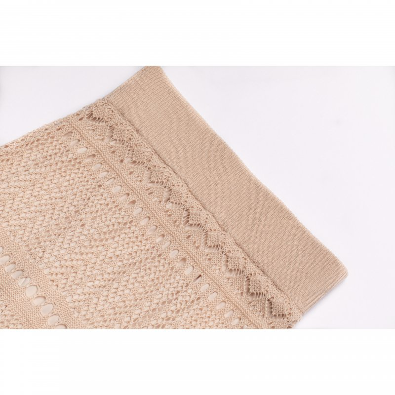 Crochet Knit Set Up(Pink Beige)