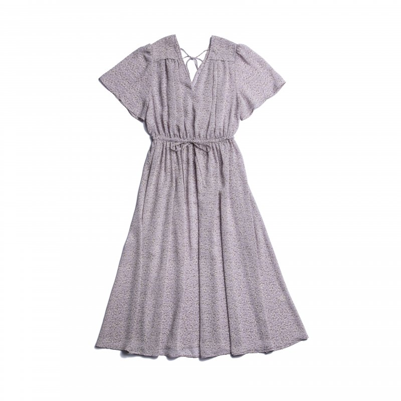 Flower Chiffon Gather One-Piece(Lavender)