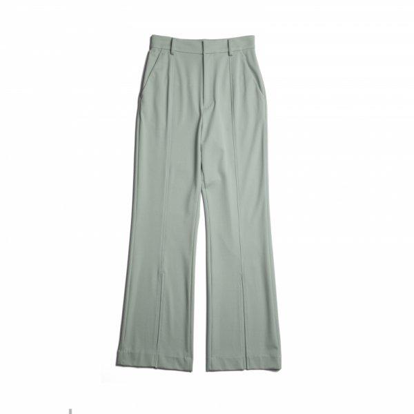 AMYER - Front Slit Color Pants(Mint)