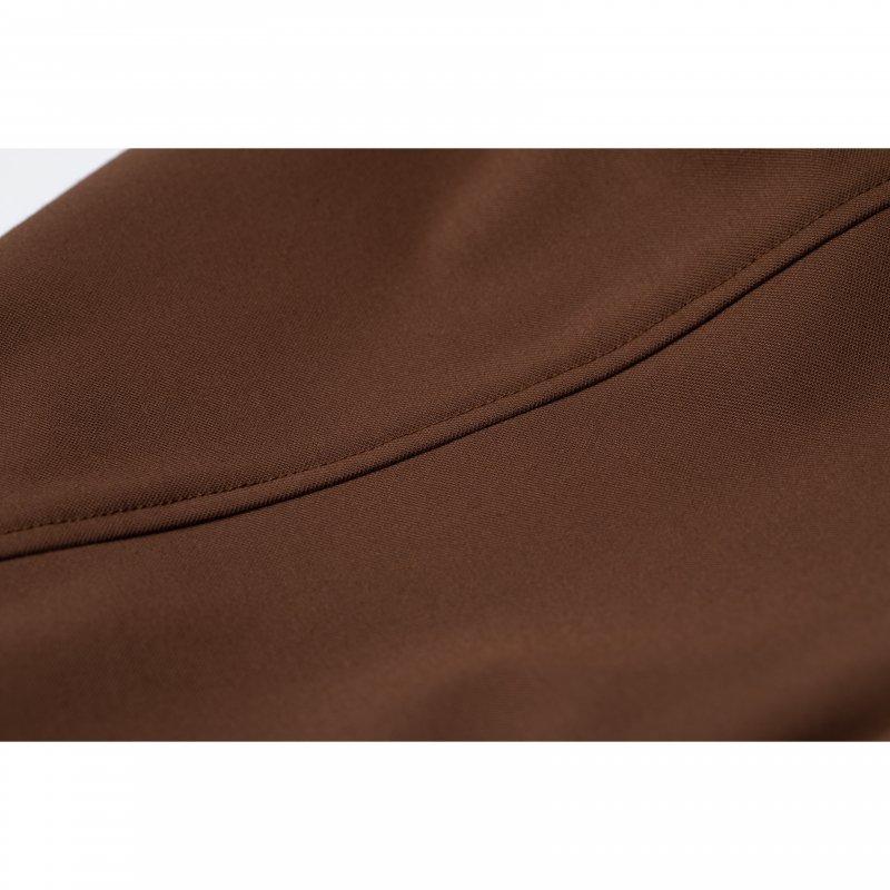 Front Slit Color Pants(Brown)