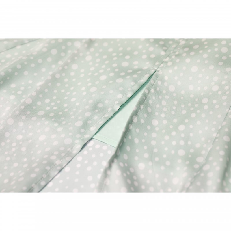 Dot Print Mermaid Skirt(Mint)