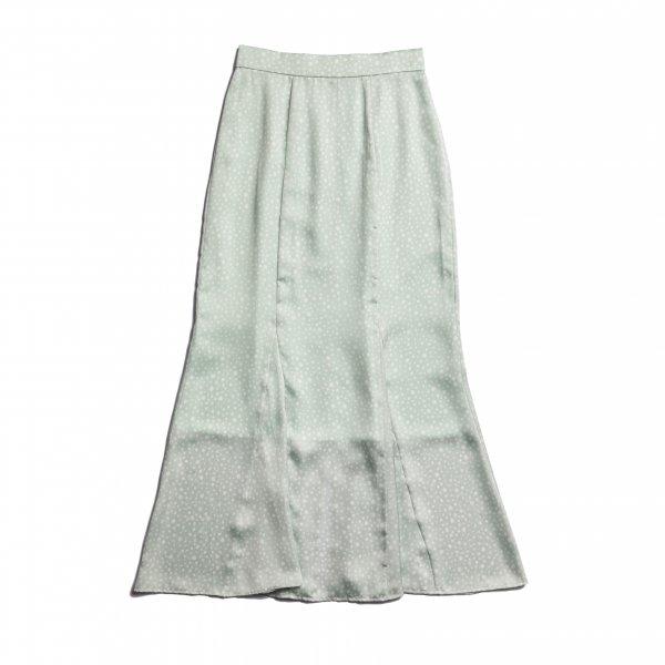 AMYER - Dot Print Mermaid Skirt(Mint)