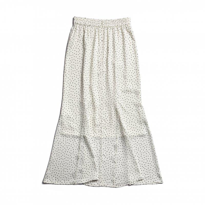 Dot Print Mermaid Skirt(White)