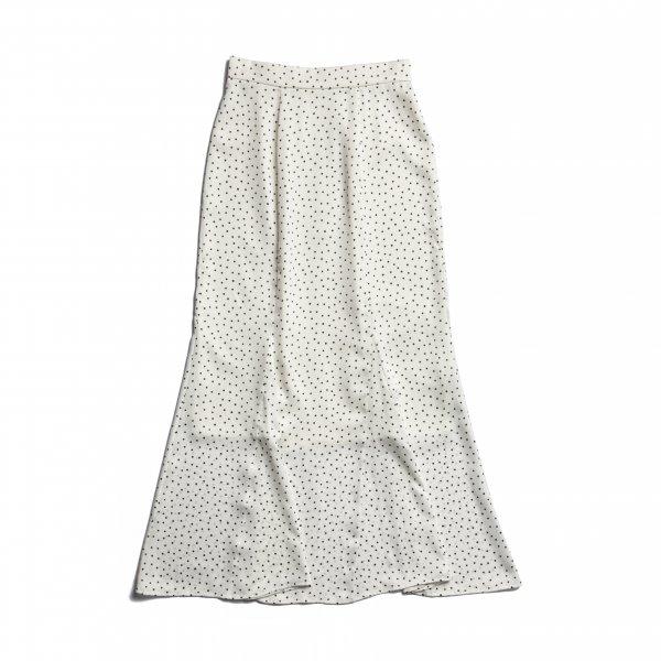 AMYER - Dot Print Mermaid Skirt(White)
