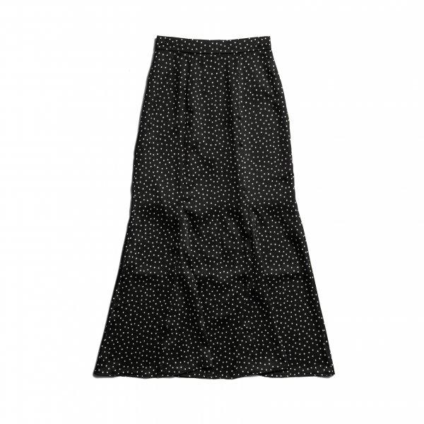 AMYER - Dot Print Mermaid Skirt(Black)