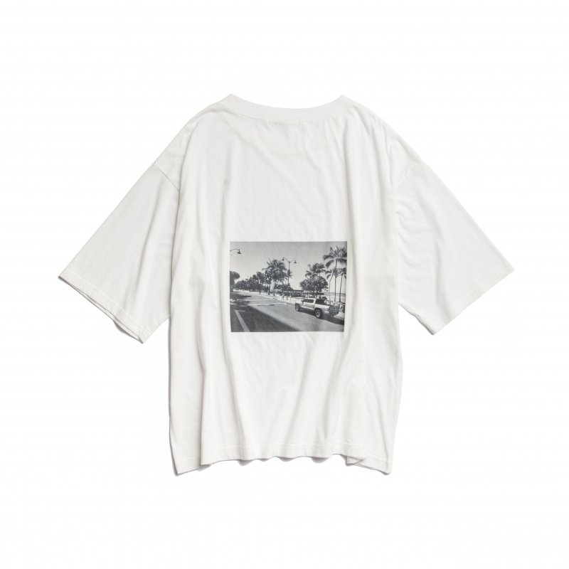 Back Photo Print TEE(White)