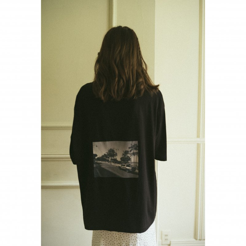 Back Photo Print TEE(Black)