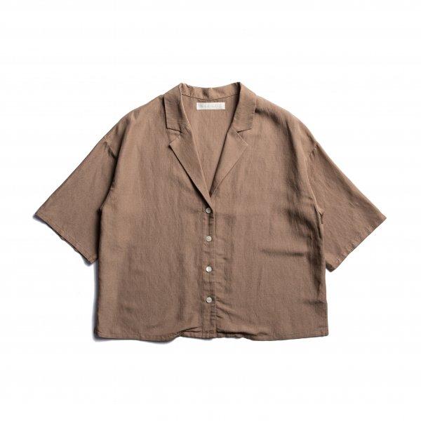AMYER - Open-Collar Shirts(Brown)