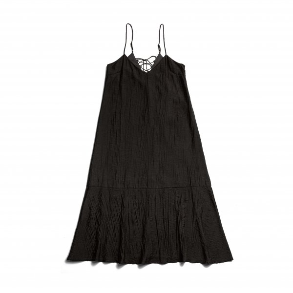 AMYER - Back Lace-Up Camisole One-Piece(Black)