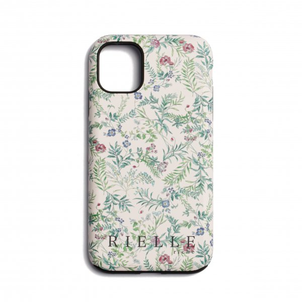 AMYER - Flower Print iPhone Case(White)
