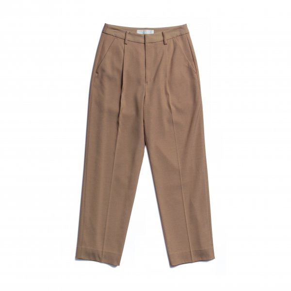 AMYER - Tuck Tapered Pants(Beige)