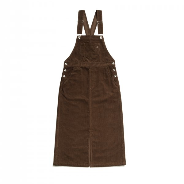 AMYER - Corduroy Jumper Skirt(Brown)