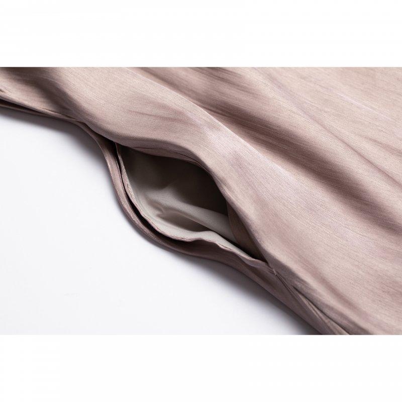 Shiny Satin Camisole One-piece(Pink)