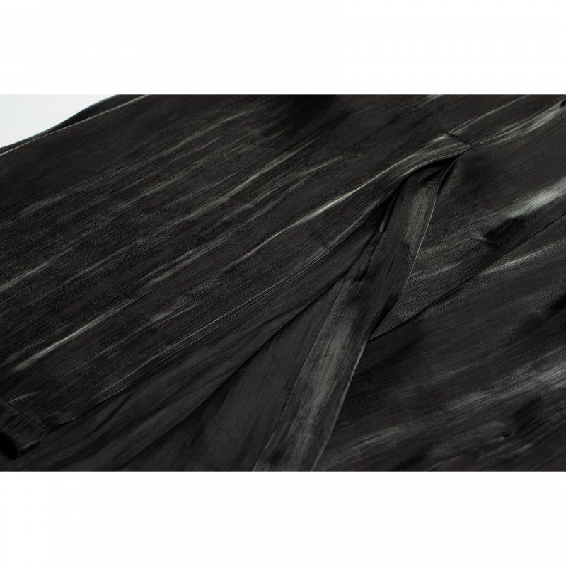 Shiny Satin Camisole One-piece(Black)