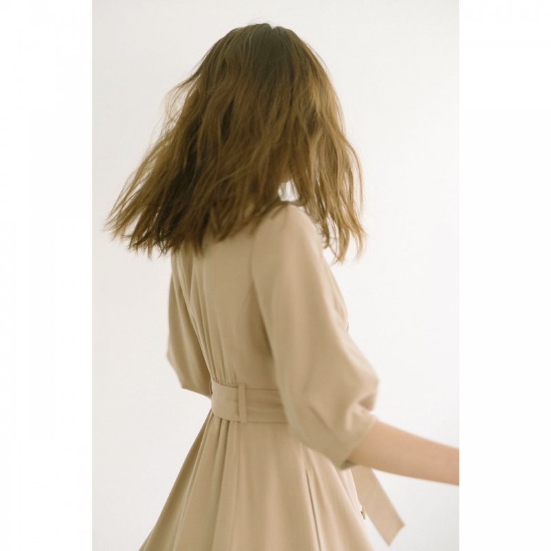 Trench Style One-piece(Beige)