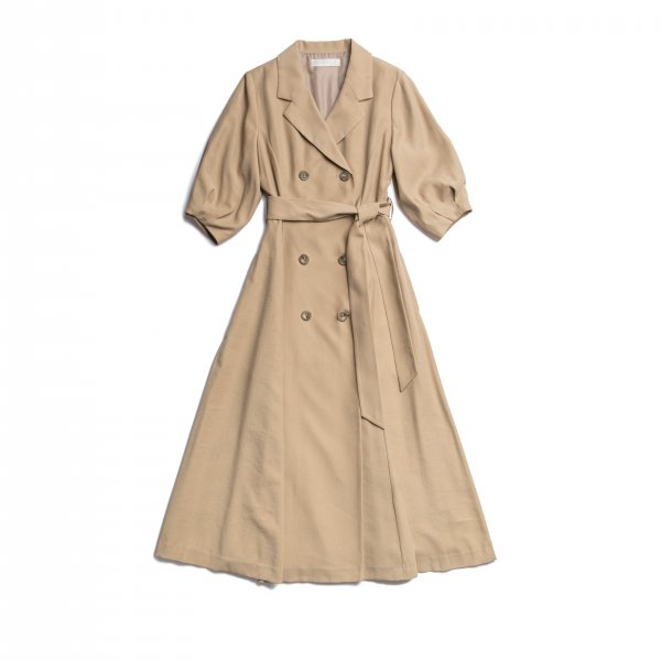AMYER - Trench Style One-piece(Beige)