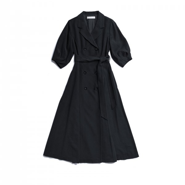 AMYER - Trench Style One-piece(Navy)